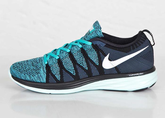 Nike Flyknit Lunar 2 Black White Sport Turquoise