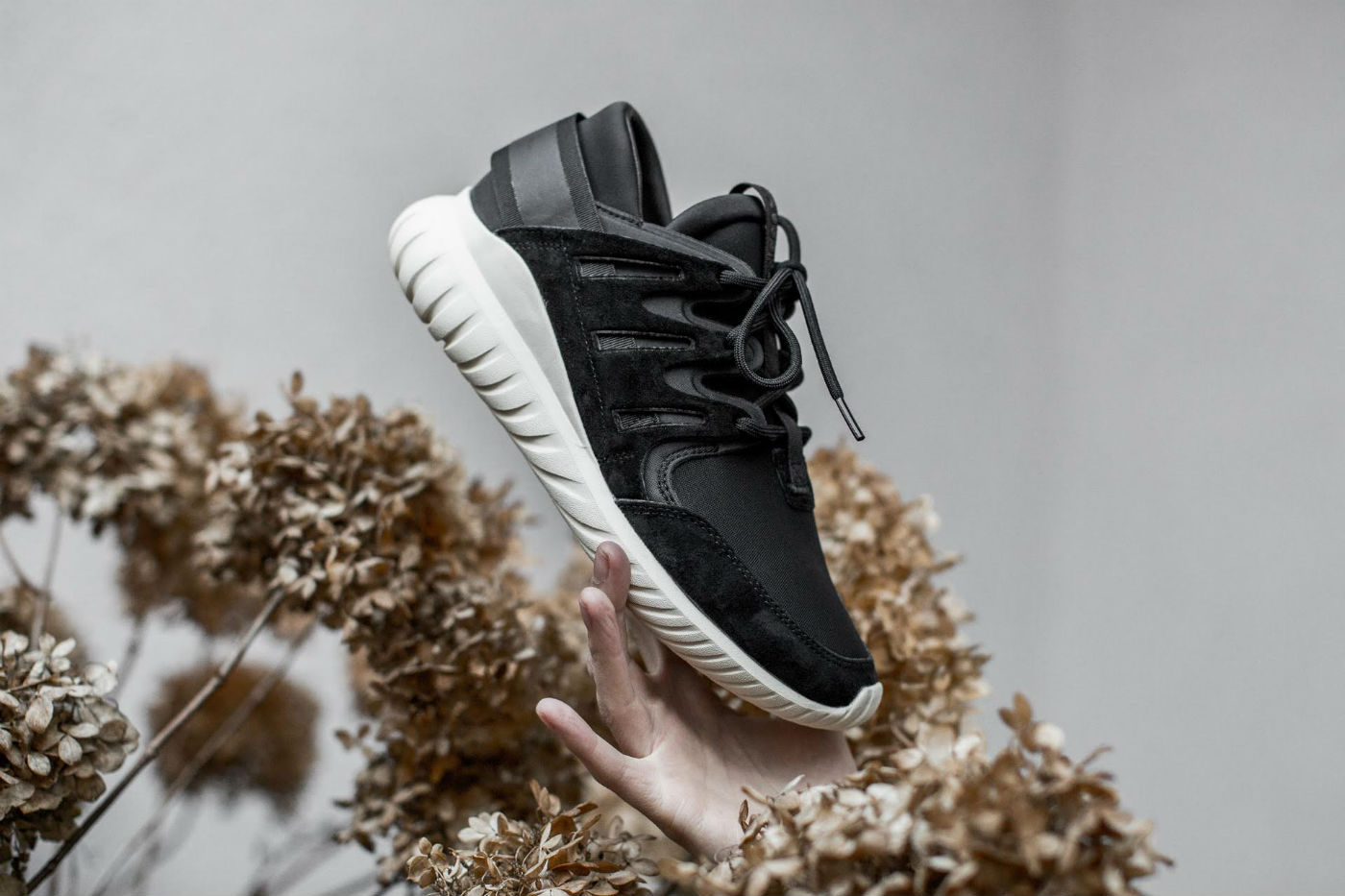 Adidas Tubular Runner Prime Knit (Stone & Vintage White) End