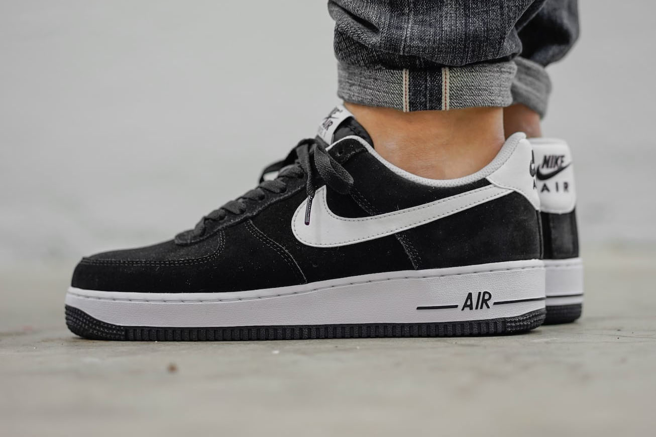 nike air force 1 suede black available now cult edge. Black Bedroom Furniture Sets. Home Design Ideas