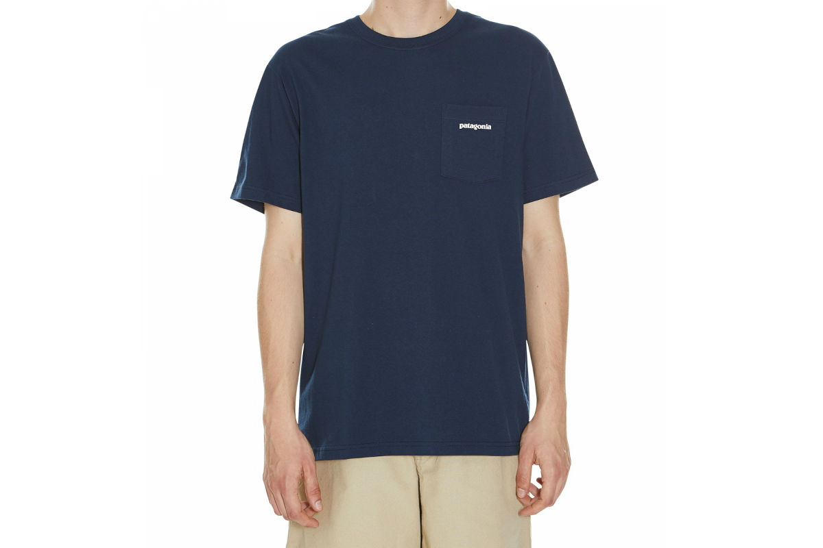Patagonia P6 Logo Pocket T-Shirt Spiced Coral - Mens Clothing from ...