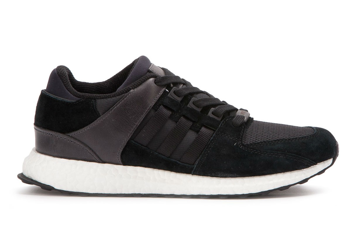 Adidas EQT Support 93/17 Core Black White Milled Leather